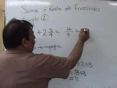 suma de fracciones mixtas mismo denominador.mp4