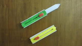 getlinkyoutube.com-How to Make a Paper Hitcher Knife - Easy paper switch knife Tutorials