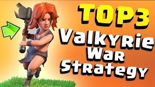 """TOP 3 TH9 BEST """"VALKYRIE"""" WAR ATTACK STRATEGY 2017 