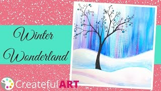 getlinkyoutube.com-How to Paint a Winter Scene--with Acrylics