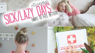 getlinkyoutube.com-Sick/Lazy days (Ways to feel better) +Essentials