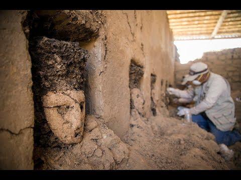 В Перу во время археологических раскопок древнего города был найден коридор с деревянными идолами