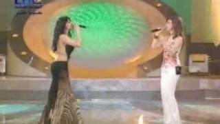 getlinkyoutube.com-Haifa Wehbe & Bahaa' El Kafy - Alloli Ano Kalam (Star Academy Performance)