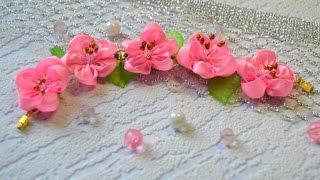 getlinkyoutube.com-Браслет с цветочками. Мастер-класс / Bracelet with flowers. Master class