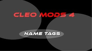 getlinkyoutube.com-[CLEO] - NameTags [SAMP 0.3.7]