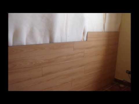 Piso Laminado en muro Hard Co 8mm biselado