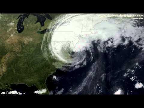 Hurricane Irene Satellite Timelapse