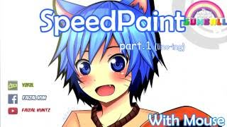 getlinkyoutube.com-【Speedpaint with Mouse】 The Amazing World of Gumball Part. 1 Line-ing (Paint tool SAI)