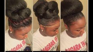 getlinkyoutube.com-How to: 3 High Bun Styles for Natural Hair