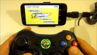 getlinkyoutube.com-Motorola Moto G - ¿Cómo usar el mando de la Xbox 360 (Android)? Review + gameplay HD