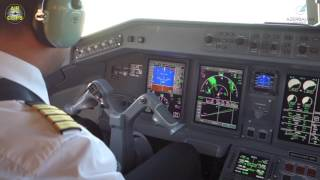 getlinkyoutube.com-Azerbaijan Airlines Embraer 195 ULTIMATE COCKPIT FLIGHT! [AirClips full flight series]