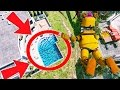 CAN NIGHTMARE FREDBEAR STUNT LAND IN A POOL OF FOXYS? GTA 5 Mods For Kids FNAF Funny Moments