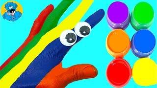 getlinkyoutube.com-Learn Colors for Children Body Paint Finger Song Учим Цвета Открываем Киндер Сюрприз,Surprise Eggs