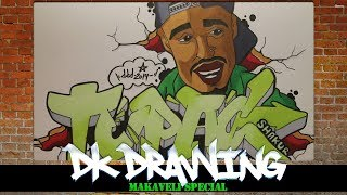 How to draw graffiti letters Tupac