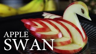 How to Make an Edible Apple Swan! width=