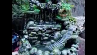 getlinkyoutube.com-Tabletop Rock Waterfall / Air Terjun Miniatur