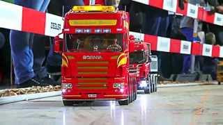 getlinkyoutube.com-SCANIA 6 AXLE HEAVY TRACTOR SPECIAL HEAVY HAUL TRANSPORTER in live action