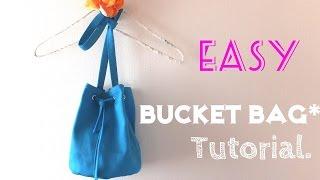 getlinkyoutube.com-**DIY**How to make Bucket Bag**Easy Tutorial**