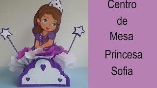 getlinkyoutube.com-Centro de mesa Princesa Sofia (How to make a centerpiece Princess Sofia)
