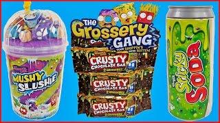 getlinkyoutube.com-GROSSERY GANG MUSHY SLUSHY, STICKY SODA and CRUSTY CHOCOLATE BARS Toy Unboxing Toy Opening