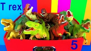 getlinkyoutube.com-DINOSAUR Box 5 TOY COLLECTION TYRANNOSAURUS REX Jurassic World T rex Toy Review  SuperFunReviews