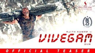Vivegam - Official Teaser | Ajith Kumar, Vivek Oberoi, Kajal, Akshara | Vetri | Anirudh | Siva
