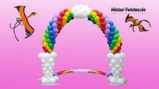 getlinkyoutube.com-Balloon Rainbow Arch, Decoration, Birthday, Ballon Regenbogen, Ballon Bogen, Dekoration, Geburtstag