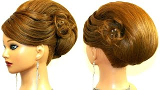 getlinkyoutube.com-Hairstyle for long medium hair. Updo tutorial