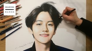 getlinkyoutube.com-엑소 - 백현 그림 그리기 (Speed Drawing EXO Baek Hyun) [Drawing Hands]