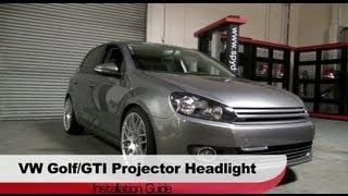 getlinkyoutube.com-Spyder Auto Installation: 2010-13 VW Golf/GTI Mk VI Projector Headlights (Non-HID)