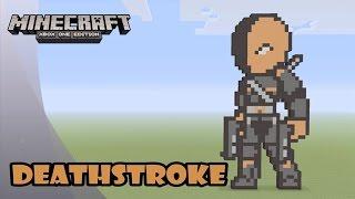 getlinkyoutube.com-Minecraft: Pixel Art Tutorial and Showcase: DEATHSTROKE