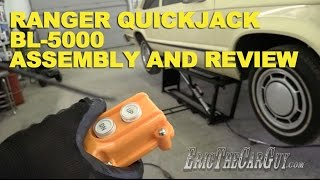 Ranger QuickJack BL 5000 Assembly and Review -EricTheCarGuy