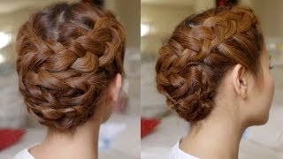 getlinkyoutube.com-Hair Tutorial: Summer Braided Updo