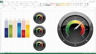 getlinkyoutube.com-Creating KPI Dashboard with gauges - Excel Dashboard Templates