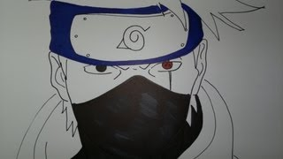 getlinkyoutube.com-Drawing Kakashi Hatake.息子カカシを描画する方法.