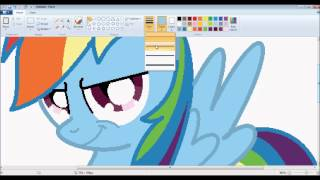 "getlinkyoutube.com-[MLP] ""Rainbow Dash"" Speedpaint- MS Paint (HD)"