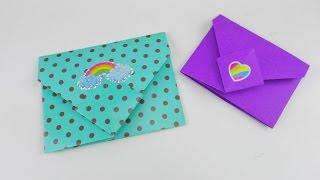 getlinkyoutube.com-Origami Briefumschlag falten DIY / Bunte Briefchen falten ganz einfach Tutorial | deutsch