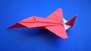 getlinkyoutube.com-оригами самолет /  origami plane / оригами самолет истребитель / origami  fighter plane
