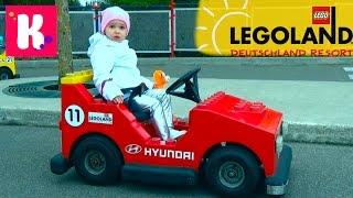 Германия #1 Леголенд парк аттракционов Катя выиграла игрушку кошечку Legoland Germany win toys