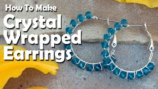 getlinkyoutube.com-How To Make Jewelry: How To Make Crystal Wrapped Earrings