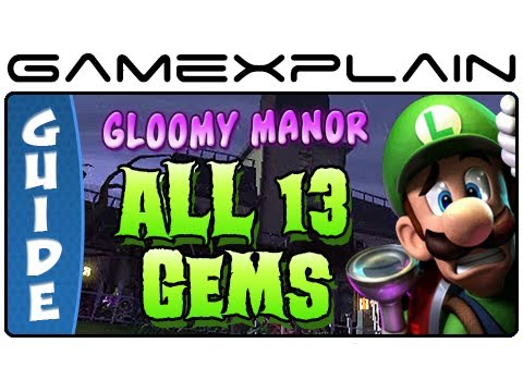 Luigi's Mansion 2: Dark Moon: All 13 Gems in Gloomy Manor - Guide & Walkthrough