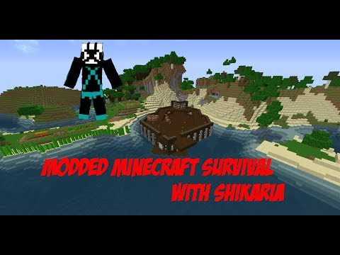 Minecraft Modded Survival with Shikaria #22 - Enchanting a Pickaxe