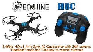 getlinkyoutube.com-Eachine H8C Mini 2.4GHz, 4Ch, 6 Axis Gyro, RC Quadcopter with Headless mode and 2MP Camera (RTF)