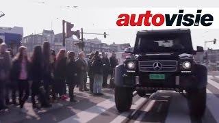 getlinkyoutube.com-Driving monstrous Mercedes G63 AMG 6x6 through Amsterdam (English subtitled)