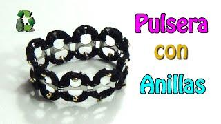 getlinkyoutube.com-109. Manualidades: Pulsera con anillas de latas (Reciclaje) Ecobrisa.