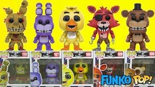 getlinkyoutube.com-FNAF GAMING FIVE NIGHTS AT FREDDY'S Funko Pop Full Set Bonnie, Foxy, Toy Chica
