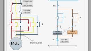 getlinkyoutube.com-Control circuit for forward and reverse motor