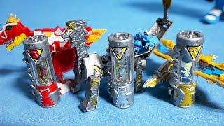 getlinkyoutube.com-파워레인저 다이노포스 변신 다이노셀 3종류 또봇 Y 미니 장난감 Power Rangers Dino Charge Kyoryuger toys & Tobot