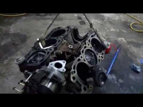 Mitsubishi Pajero ремонт двигателя 6v 24 клапана. Перегрев.
