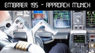 getlinkyoutube.com-Embraer 195 Lufthansa CityLine | cockpit landing Munich Airport